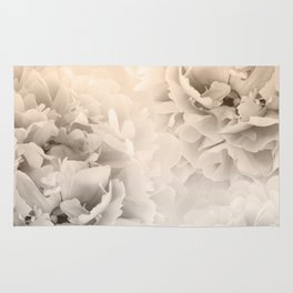 Sepia Peonies Dream #1 #floral #decor #art #society6 Rug