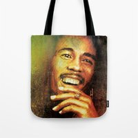 marley Tote Bags featuring Marley by medal XD