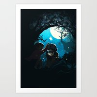 gravity falls Art Prints featuring Gravity by Larelley