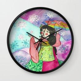 Geisha of New Beginnings Wall Clock