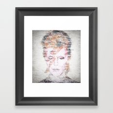Bowie Typo Framed Art Print