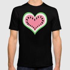 Watermelon Love... Black MEDIUM Mens Fitted Tee