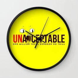 UNACCEPTABLE Wall Clock