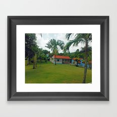 House in Dominican Republic Framed Art Print