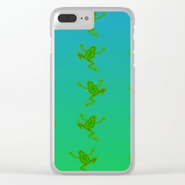 When the frogs goes marching in ... Clear iPhone Case