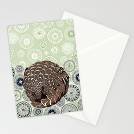 pangolin mandala eden Stationery Cards