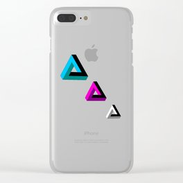 Triangled 2 Clear iPhone Case