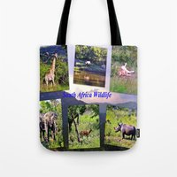 south africa Tote Bags featuring South Africa Wildlife by Art-Motiva