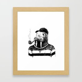 Walrus with a Pipe Framed Art Print