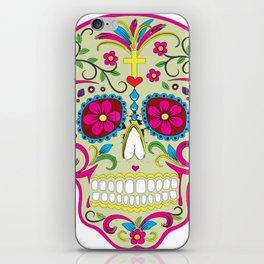 Sugar Skull cream iPhone Skin