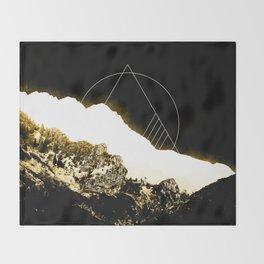 Golden Mountain Throw Blanket