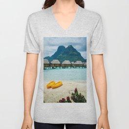 Bora Bora Beach Unisex V-Neck