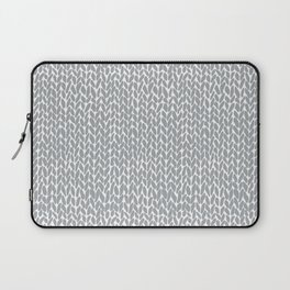 Hand Knit Light Grey Laptop Sleeve