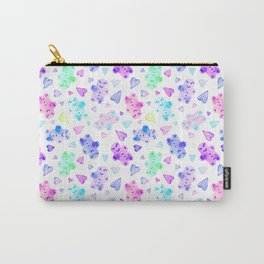 Watercolor Gingerbread Cookies in Pastel Rainbow Carry-All Pouch
