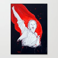 enjolras Canvas Prints featuring Enjolras by 723blinks