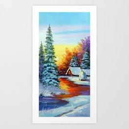 Winter dawn Art Print