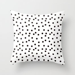 Simply smashing - white polkadots Throw Pillow