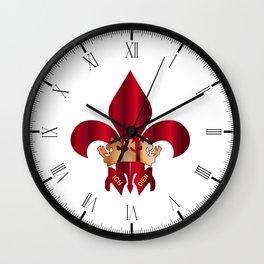 Fleur de Lis Symbol Wall Clock