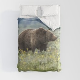 Smiling Grizzly #399 Comforters