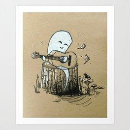 Chill Ghost Music Art Print