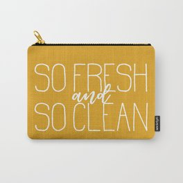 So Fresh and So Clean Yellow Carry-All Pouch