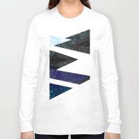 frozen Long Sleeve T-shirts featuring Marble stone ( frozen ) by Marta Olga Klara