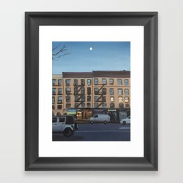 Moon Over 8th Avenue Framed Art Print