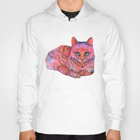 stickers Hoodies featuring SUNSET CAT by Ola Liola
