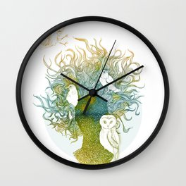 Spring birds Wall Clock