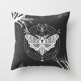 Witch Craft White Throw Pillow