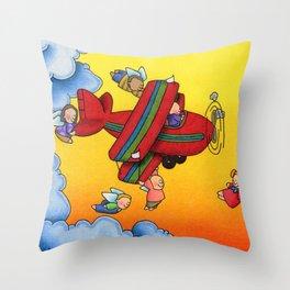Angel Flight Throw Pillow