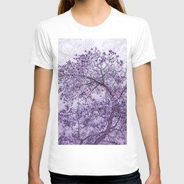 Beautiful Pine Tree Silhouette Purple Color #decor #society6 #buyart T-shirt