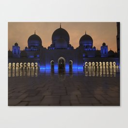 Sheike Zayed Grand Mosque Canvas Print