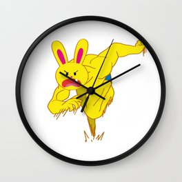 One Tooth Rabbit Fast Sprint Wall Clock