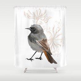 Grumpy Junco Bird Shower Curtain