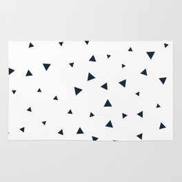 Navy Blue Triangle Pattern Rug