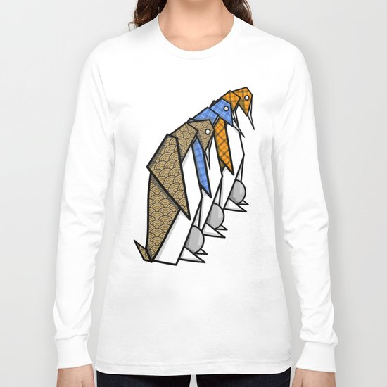 Origami Penguins Long Sleeve T-shirt