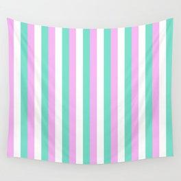 Spun Sugar Stripes Pattern Print Wall Tapestry
