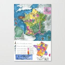 La France Canvas Print