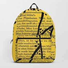 Literature Art Yellow Lines Backpack