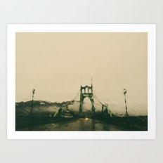 st johns rain Art Print