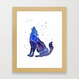 Galaxy Wolf Lupus Constellation Framed Art Print