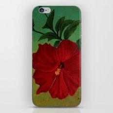 Red hibiscus iPhone & iPod Skin