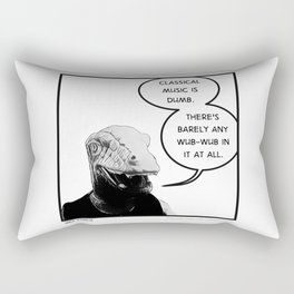 "Wee Ennui | ""Classical music is dumb."" Rectangular Pillow"
