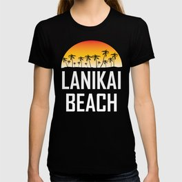 Lanikai Beach Hawaii Sunset Palm Trees Beach T-shirt