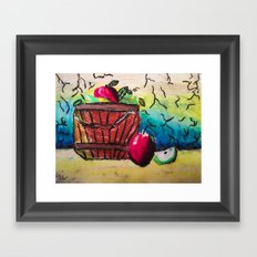 Basket of Apples Framed Art Print