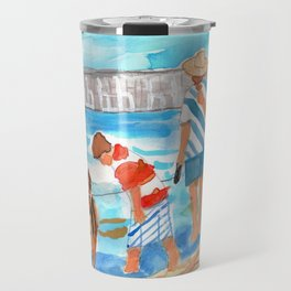 A Day at the Beach (finished) Travel Mug