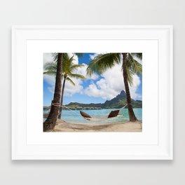 Bora Bora Photography - Tahiti - French Polynesia - Mt Otemanu - Beach - Overwater Bungalow - Fine A Framed Art Print
