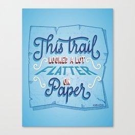 Flatter on Paper Canvas Print