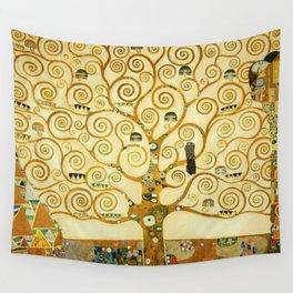 Gustav Klimt The Tree Of Life Wall Tapestry